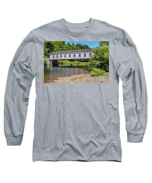 Goodpasture Covered Bridge Long Sleeve T-Shirt
