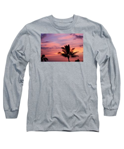 Long Sleeve T-Shirt featuring the photograph Gorgeous Hawaiian Sunset - 1 by Karen Nicholson