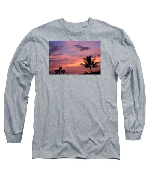 Long Sleeve T-Shirt featuring the photograph Gorgeous Hawaiian Sunset - 2 by Karen Nicholson