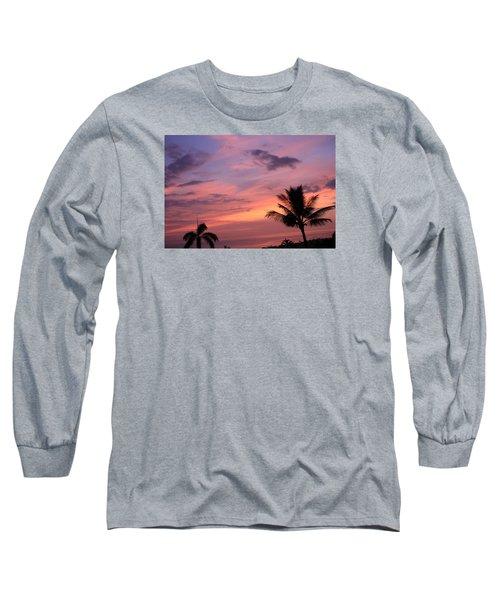 Gorgeous Hawaiian Sunset - 2 Long Sleeve T-Shirt by Karen Nicholson