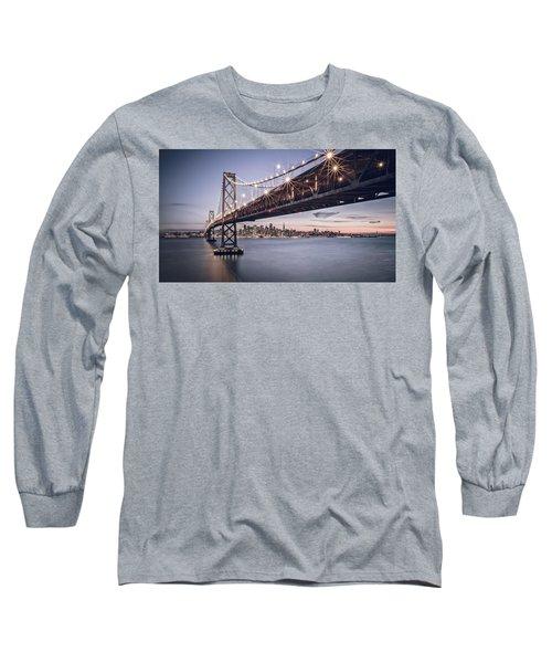 Gotham City Long Sleeve T-Shirt by Eduard Moldoveanu