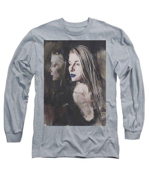 Gothic Mirror Echo Long Sleeve T-Shirt