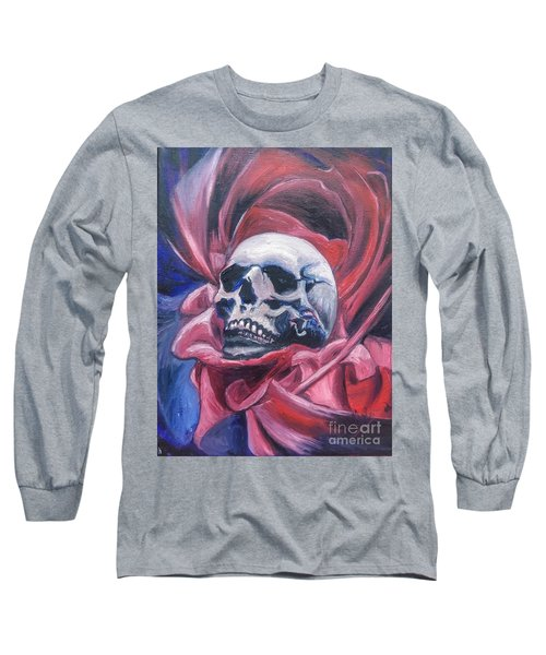 Long Sleeve T-Shirt featuring the painting Gothic Romance by Isabella F Abbie Shores FRSA