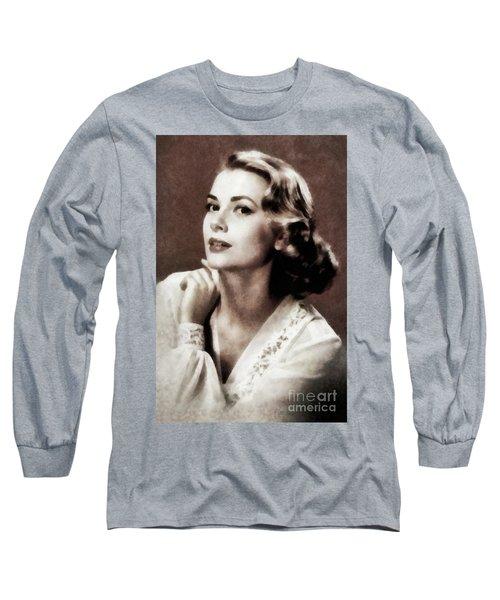 Grace Kelly, Actress, By Js Long Sleeve T-Shirt
