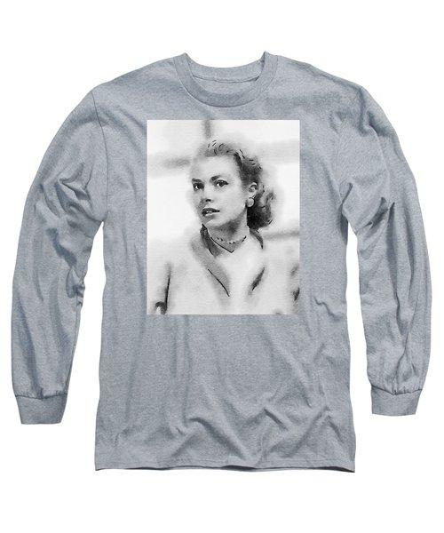 Grace Kelly By John Springfield Long Sleeve T-Shirt by John Springfield