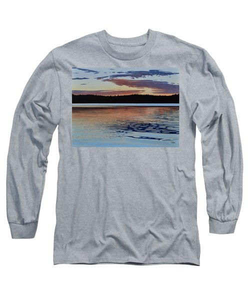 Long Sleeve T-Shirt featuring the painting Graham Lake by Kenneth M Kirsch