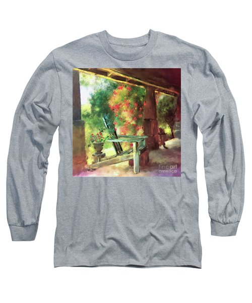 Gramma's Front Porch Long Sleeve T-Shirt by Lois Bryan