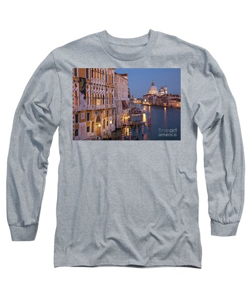 Long Sleeve T-Shirt featuring the photograph Grand Canal Twilight by Brian Jannsen