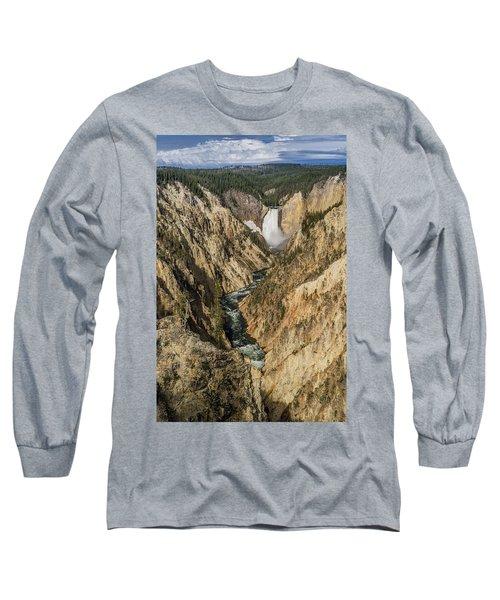 Grand Canyon Of The Yellowstone And Yellowstone Falls Long Sleeve T-Shirt