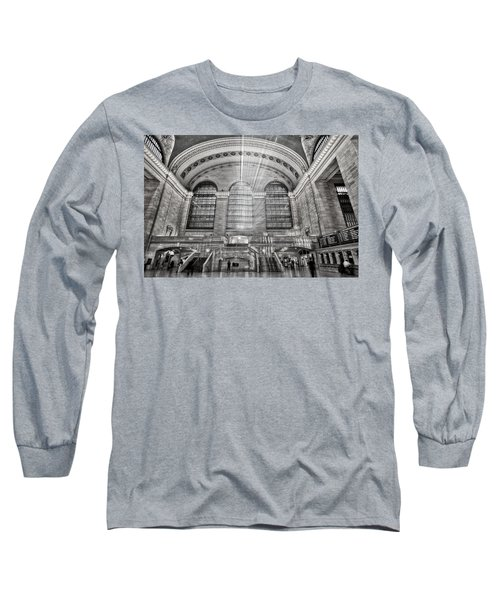 Long Sleeve T-Shirt featuring the photograph Grand Central Terminal Station by Susan Candelario