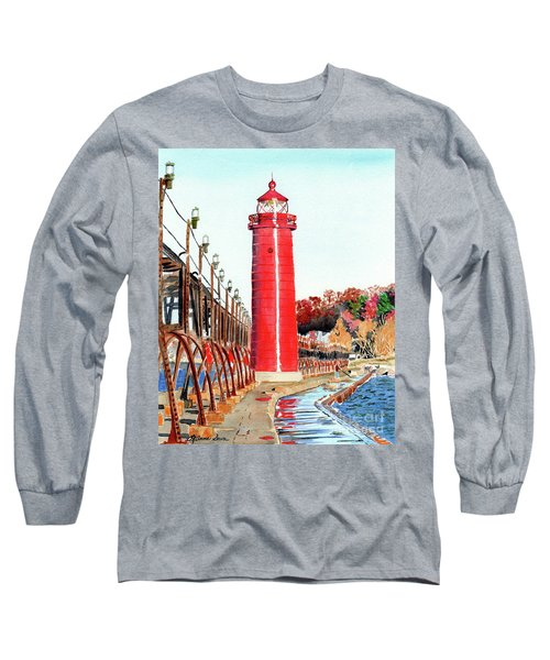 Grand Haven Autumn Long Sleeve T-Shirt by LeAnne Sowa