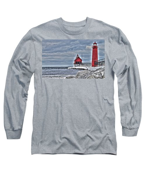 Grand Haven Lighthouse Long Sleeve T-Shirt