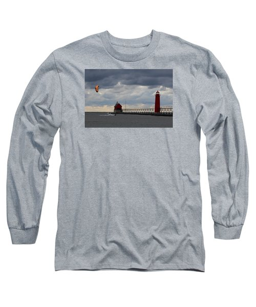 Grand Haven Wind Surfing Long Sleeve T-Shirt