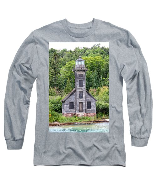 Long Sleeve T-Shirt featuring the photograph Grand Island East Channel Lighthouse #6554 by Mark J Seefeldt