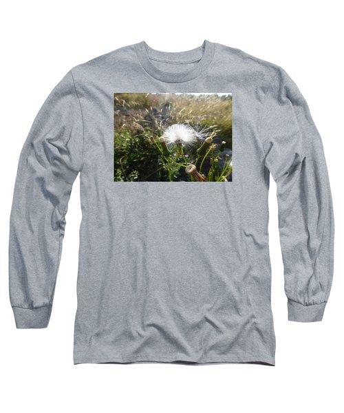 Long Sleeve T-Shirt featuring the photograph Grand Manan Dandelion  by Joel Deutsch