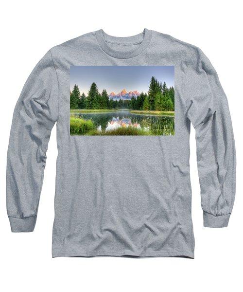 Grand Tetons Sunrise 2 Long Sleeve T-Shirt