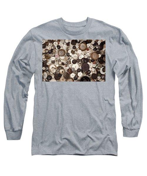 Grandmas Buttons Long Sleeve T-Shirt
