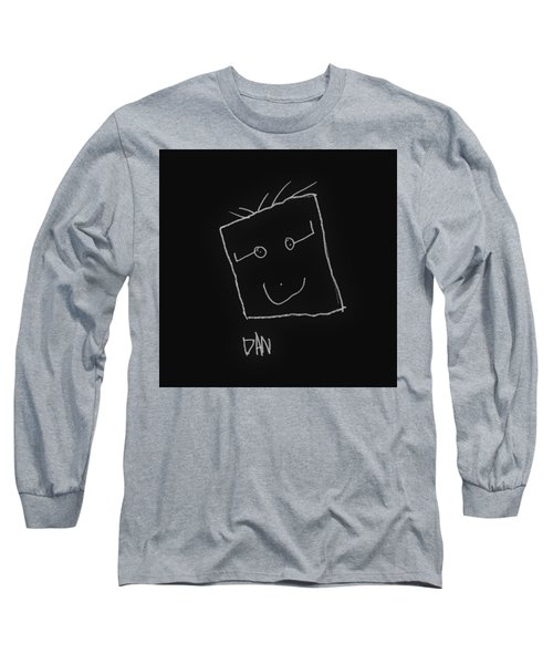 Long Sleeve T-Shirt featuring the drawing Grandpa 2 by Andrew Drozdowicz