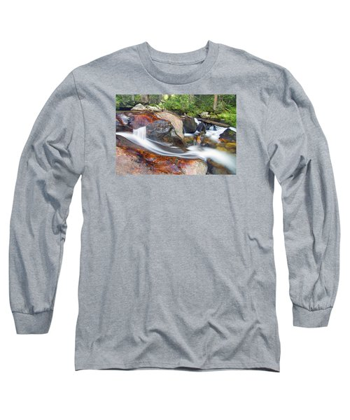 Long Sleeve T-Shirt featuring the photograph Granite Falls by Gary Lengyel