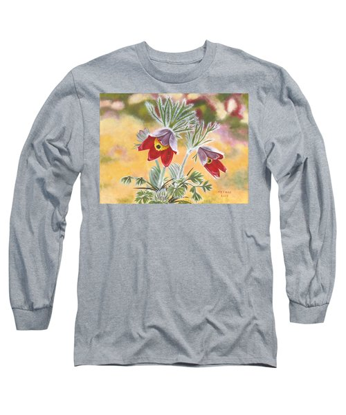 Granny Flowers Long Sleeve T-Shirt