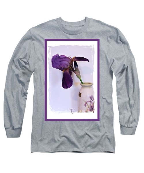 Grape Iris In A Vase Long Sleeve T-Shirt
