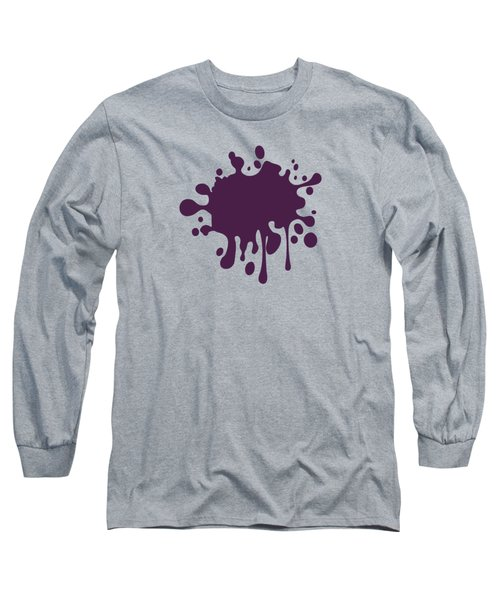 Grape Wine Solid Color Long Sleeve T-Shirt by Garaga Designs