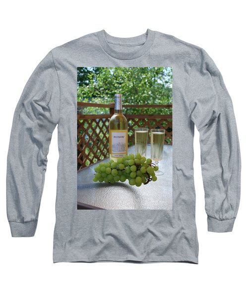 Grapes And Wine Long Sleeve T-Shirt by Gordon Mooneyhan