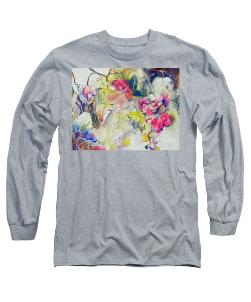 Grapes In Season Long Sleeve T-Shirt by Mary Haley-Rocks