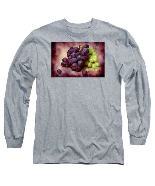 Long Sleeve T-Shirt featuring the photograph Grapes Red And Green by Alexander Senin