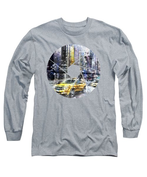 Graphic Art New York City Long Sleeve T-Shirt by Melanie Viola