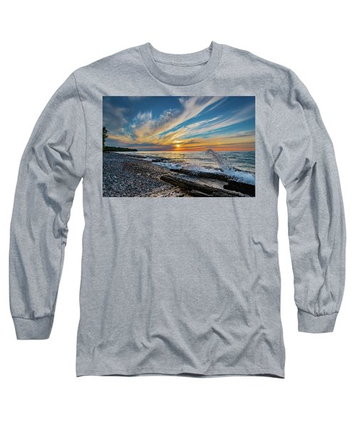 Graveyard Coast Sunset Long Sleeve T-Shirt