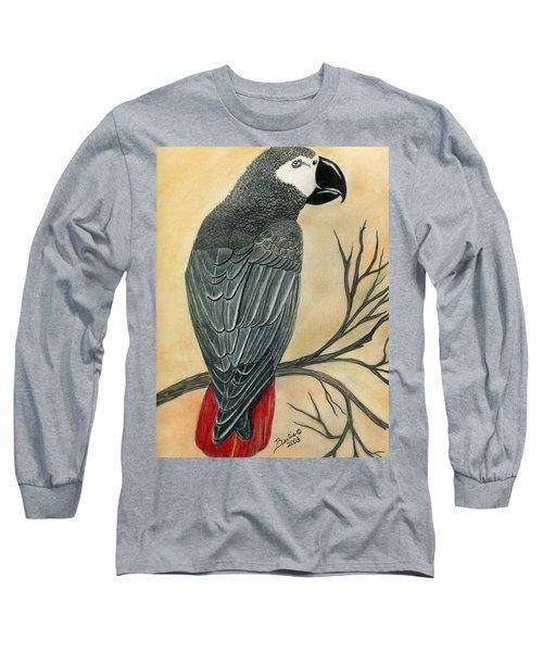 Gray Parrot Long Sleeve T-Shirt