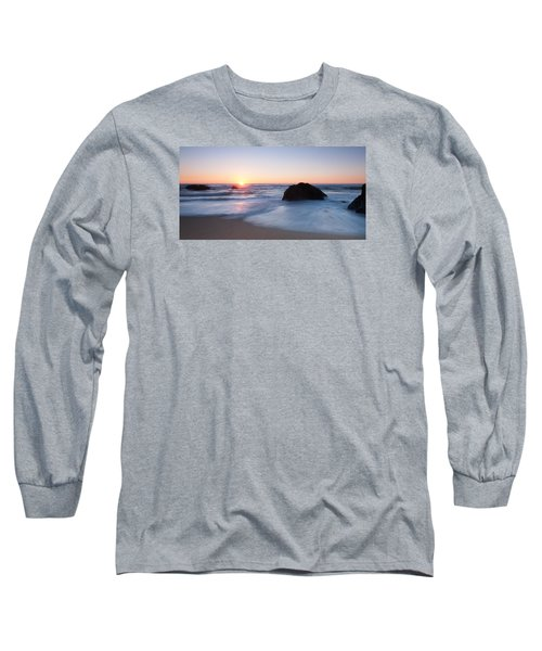 Gray Whale Cove State Beach 3 Long Sleeve T-Shirt by Catherine Lau