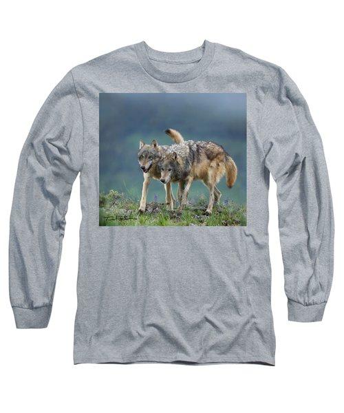 Gray Wolves Long Sleeve T-Shirt