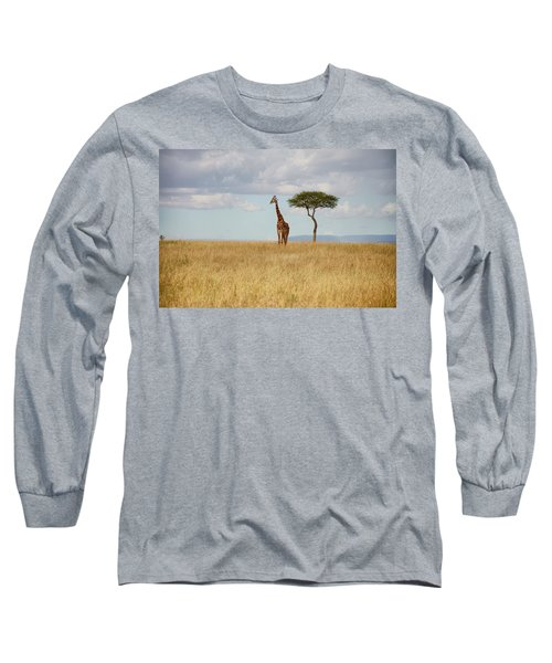 Grazing Giraffe Long Sleeve T-Shirt