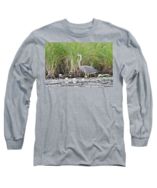 Great Blue Heron 6209 Long Sleeve T-Shirt