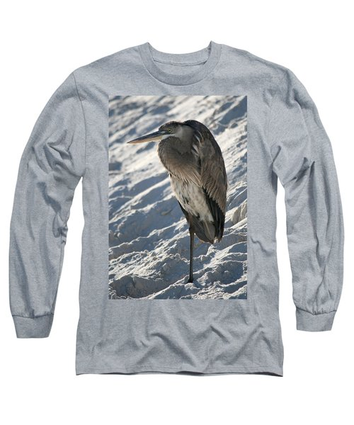 Long Sleeve T-Shirt featuring the photograph Great Blue Heron by Kathleen Scanlan
