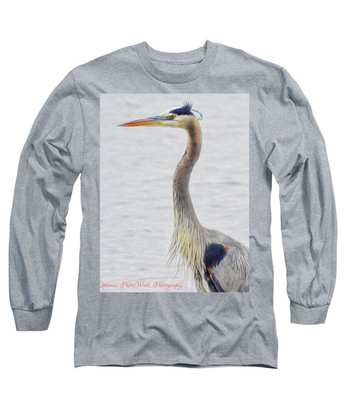 Great Blue Heron Of Virginia Long Sleeve T-Shirt