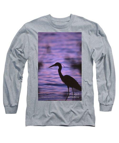 Great Blue Heron Photo Long Sleeve T-Shirt