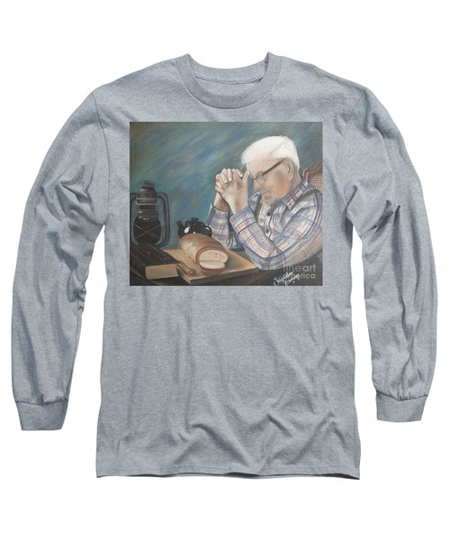 Long Sleeve T-Shirt featuring the painting Great Grandpa by Jacqueline Athmann