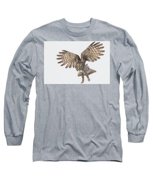 Great Grey Flight  Long Sleeve T-Shirt
