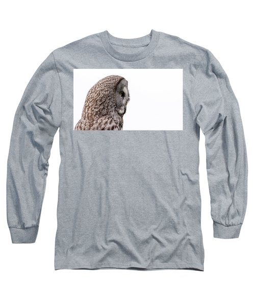 Great Grey's Profile On White Long Sleeve T-Shirt