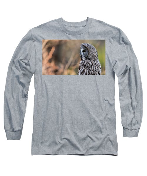 Great Grey's Profile Long Sleeve T-Shirt by Torbjorn Swenelius