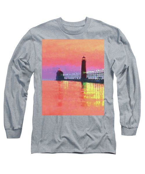 Great Lakes Light Long Sleeve T-Shirt by Dennis Cox WorldViews