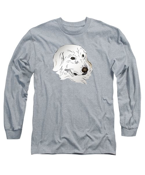 Great Pyrenees Dog Long Sleeve T-Shirt by MM Anderson