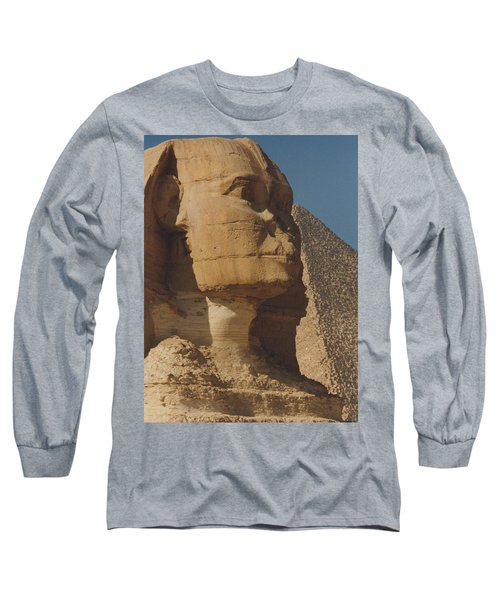 Long Sleeve T-Shirt featuring the photograph Great Sphinx Of Giza by Travel Pics