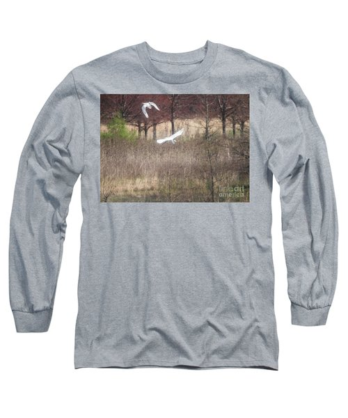 Long Sleeve T-Shirt featuring the photograph Great White Egret - 3 by David Bearden