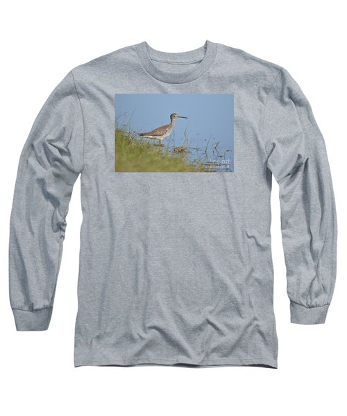 Greater Yellowlegs Long Sleeve T-Shirt by Kathy Gibbons