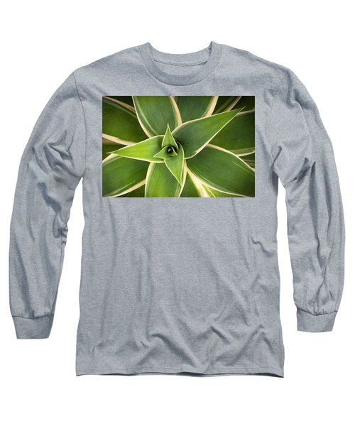 Green Agave Long Sleeve T-Shirt by Catherine Lau