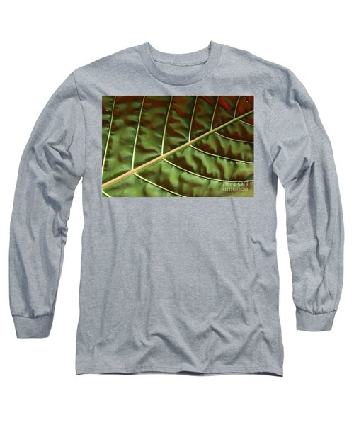 Green And Red Leaf Silky Dunes 1 Long Sleeve T-Shirt